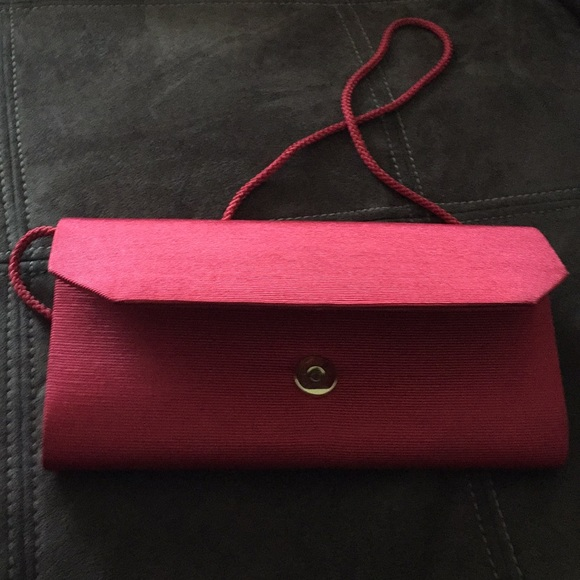 Handbags - Pursuits Red Clutch